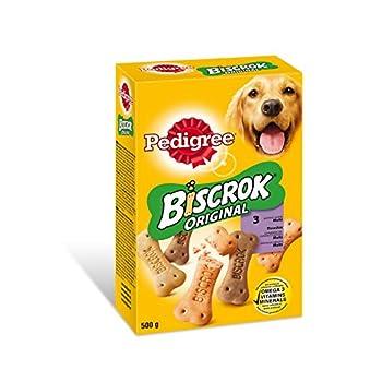 Pedigree Biscrock Biscuits 3 Variétés Boîte de 500 g pour Chien - Pack DE 12