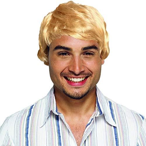 ODJOY-FAN Kurze Perücke für Männer, Mode Cosplay Perücke Party Perücke HerrenPerücke Kostüm Gut aussehend Cool Perücken Wig(Gold,1 PC) (Gute Coole Kostüm)