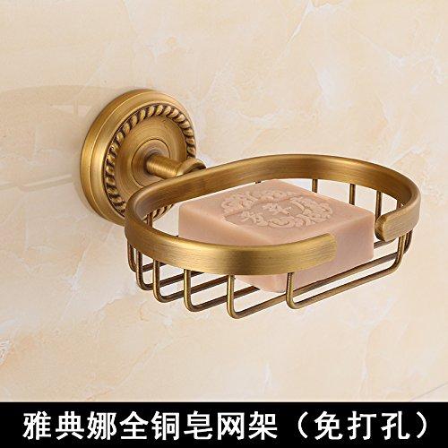 MangeooDie toilette Seife net Kupfer antiken europäischen Stil Bad Seifenschale, Athena Seife net (frei von Stanzen) -