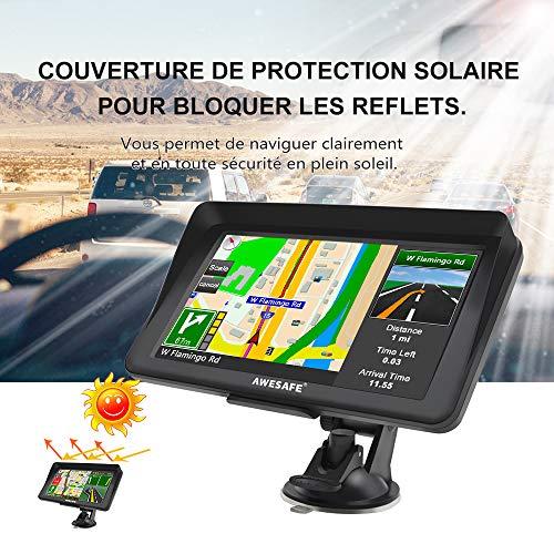 GPS Auto 7 Pouces Système de Navigation Automatique à Ecran Tactile Cartographie Europe 52 à Vie Caméra de recul Mises à Jour gratuites de la Carte à Vie