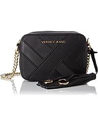 Versace Jeans - Ee1vqbbk8_e75428, Bolsos bandolera Mujer, Nero, 7x13x17 cm (W x H L)