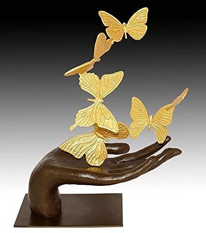 Moderne Kunst Skulptur - Flying Away - Schmetterlinge - Freiheitssymbol - signiert Martin Klein - Tierskulptur - Modern Art Figur - Kunst (Freiheit Bronze Bronze-skulptur)