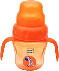 Mee Mee 150ml 2 in 1 Spout and Straw Sipper Cup (Orange)