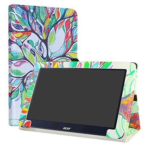 LiuShan Acer One 10 S1003 Custodia, Slim Sottile Pieghevole con Supporto in Piedi Caso per 10.1' Acer One 10 S1003 Windows 10 Tablet,Love Tree