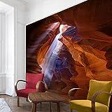 Bilderwelten Vliestapete Premium - Lichtspiel im Antelope Canyon - Fototapete Quer Vlies Tapete Wandtapete Wandbild Foto, Größe HxB: 225cm x 336cm