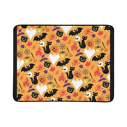 EIJODNL Halloween Portable and Foldable Blanket Mat 60x78 Inch Handy Mat for Camping Picnic Beach Indoor Outdoor ()