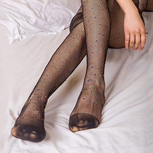 SUZNUO Kleine Weiße Diamant Sommer Strumpfhosen Frauen Seidenstrümpfe Dünne Dame Strumpfhosen Strumpfwaren Sexy Engen Schritt Fuß Nahtlose Mesh Design - Diamant-knie-socke