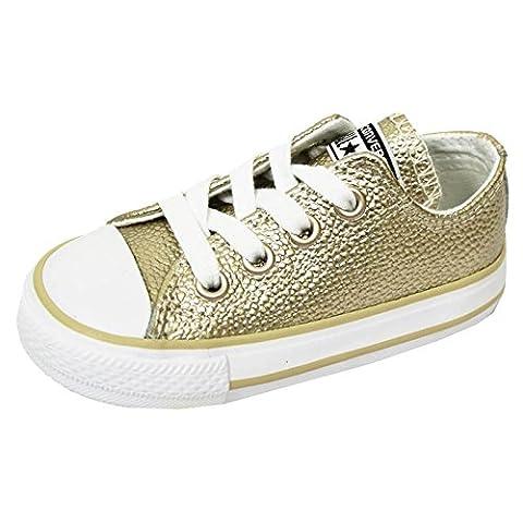 Converse Chuck Taylor All Star Metallic Infant Light Gold Leather 24 EU (Chuck Taylor Metallic Lo Top)