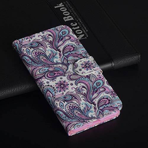 Für ZTE Max XL N9560 (Z986) Hülle, Geschäft Leder Wallet Schutzhülle Case Cover für ZTE Max XL N9560 (Z986) [Peacock Flower]