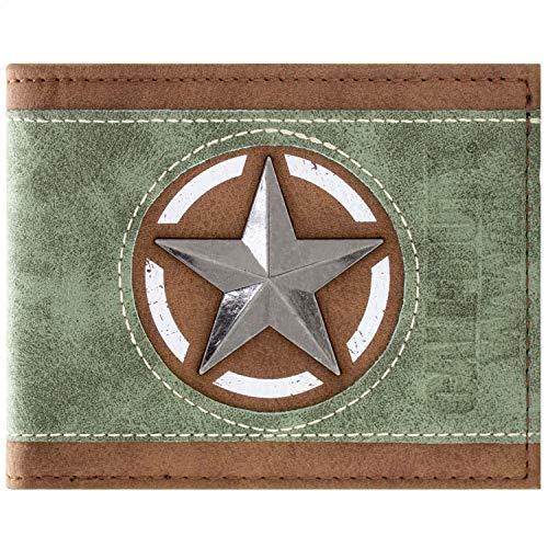 Kostüm Of Ghosts Call Duty - Call of Duty WWII Alliierten-Emblem-Stern Schwarz Portemonnaie Geldbörse