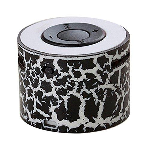BEAYPINE Mini Tragbarer Lautsprecher TF Kartensteckplatz USB Halterung Lautsprecher Stereo tragbar Lautsprecher Lampe für Halloween Party Study Yoga Office