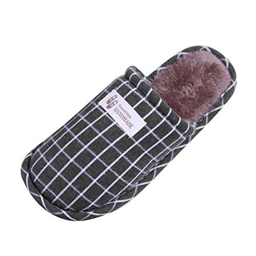 Chaussons Winter Plush Slippers, Amlaiworld Hiver Pantoufles rayées Pantoufles chaudes intérieures Anti-dérapant chaussures molles