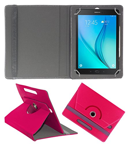 Acm Rotating 360° Leather Flip Case For Samsung Galaxy Tab S2 9.7 Tablet Stand Cover Holder Dark Pink  available at amazon for Rs.189