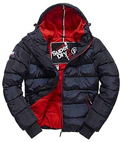 SUPERDRY Herren Jacke Polar Sports Puffer, Blau (Navy/Red26S),