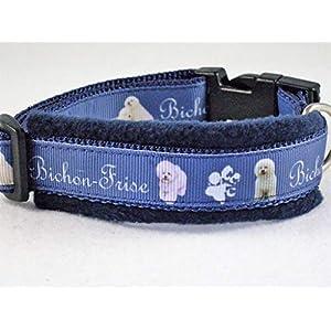 """Halsband""""Bichon Frise"""" Größe S 30 bis 35 cm Halsumfang"""