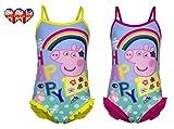 Happy Peppa Pig Rainbow maillot de bain, enfants Maillot de bain 2 Couleurs: Rouge et jaune, 4 tailles
