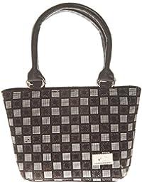 Aliado Faux Leather Printed Black & White Zipper Closure Tote Bag For Women For Women