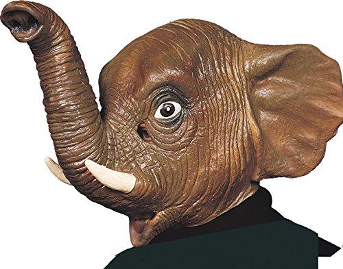 Ciao 30163-Máscara elefante de látex, marrón