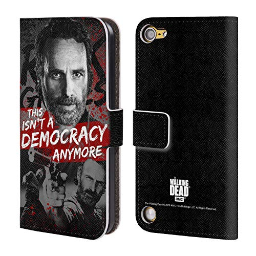 fizielle AMC The Walking Dead Demokratie Rick Grimes Erbschaft Leder Brieftaschen Huelle kompatibel mit Touch 5th Gen/Touch 6th Gen ()