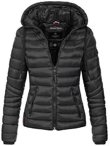 Navahoo Damen Designer Winter Jacke warme Winterjacke Steppjacke Teddyfell B656 3