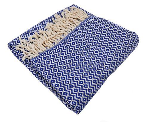 Hamamtuch / Saunatuch ELMAS LUX 100x180 cm (Blau)