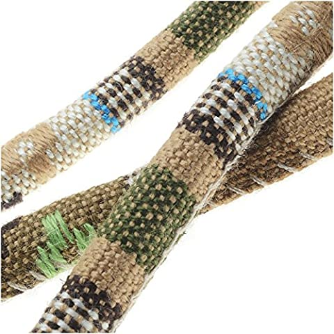 Multi-Colored Cotton Cord, Round Woven Strands 6mm Thick, 3 Feet, Beige Mix