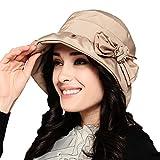Maitose&Trade; Frauen-wasserdicht Winddicht Bucket Hat Beige