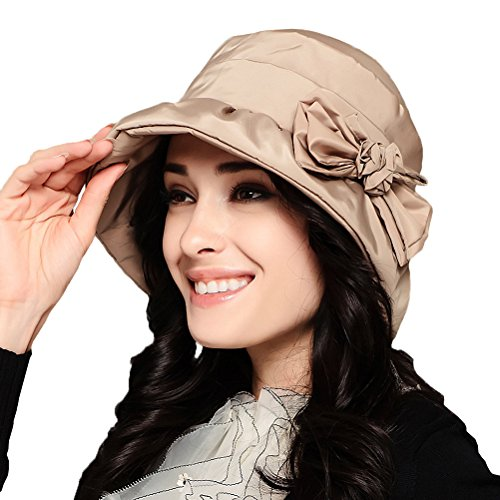 Maitose™ Frauen-wasserdicht winddicht Bucket Hat Beige