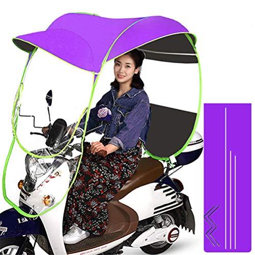 GFYWZ Motorrad-Regenschirm-Sonnenschutz-Regenschutz, Universal-Fahrrad-elektrischer faltender wasserdichter Regenschirm,B