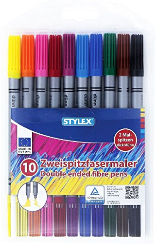 stylexr-10-zweispitzfasermaler-doppelfasermaler-mit-je-2-malspitzen-dick-und-dunn-10-farben-tinte-au