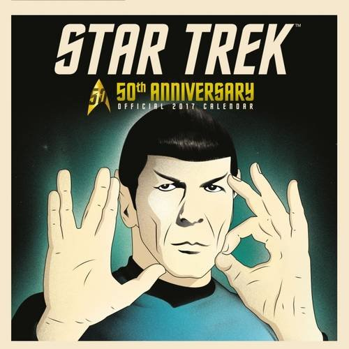 Star Trek 50th Anniversary Official 2017 Calendar (Square)