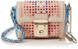 Trussardi Jeans Damen Saint Tropez Ecoleather Studs Mini Bag Umhängetasche, Pink (Pinklight), 17x13x7 Centimeters