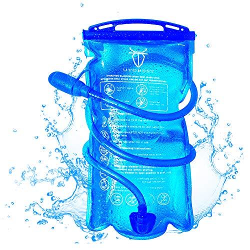 UTOBEST Bolsa de hidratación para Mochila de Senderismo, Sistema de hidratación con Reserva de Agua para 1 l, 1,5 l, 2 l y 3 l, de la Marca(2L)