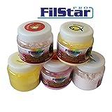 60g FILSTAR CARP stark haftender Protein Bait Powder Dip Pulverdip Boilie Aroma Banane / gelb