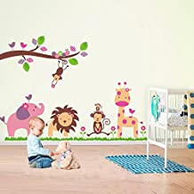 Walplus Fuloon Stickers Autocollant Animaux Jungle Décal Déco Art Maison Chambre Enfant