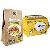Multi-Packs > Sustitutos de Carne y Sustitutos de Huevo : vEGGs Sustituto de Huevo 100% Vegano basado en plantas | Mezcla de Carne Vegana Instantánea | Vegano | 100% Sin Gluten