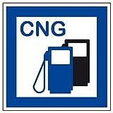 Schild für erneuerbare Energien - CNG Erdgas Tankstelle - Folie Selbstklebend - 40 x 40 cm