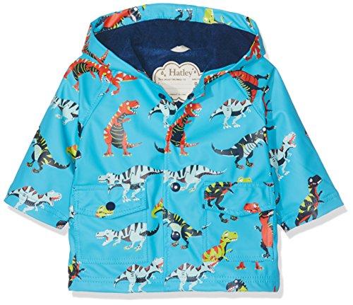 Hatley Printed Rain Jacket, Manteau Bébé garçon, Bleu (Roaring T-Rex 400), 9-12 Mois