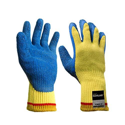 Myf 5 grade cut-proof guanti di lavoro assicurazione pugnalata taglio cantiere posto di legno resistente all'usura anti-scivolo in fibra di sicurezza in gomma naturale guanti tagliati-resistenti,m