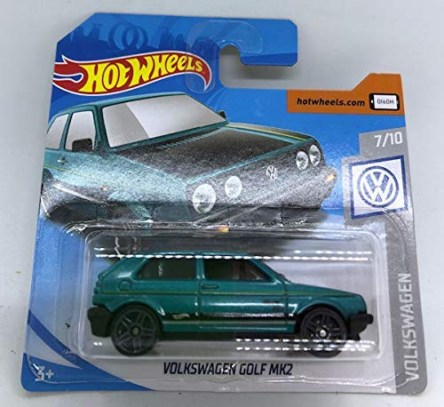 2019 Hot Wheels Volkswagen Golf MK2 Green 7/10 Volkswagen 68/250 (Short Card) (Mk2 Golf)