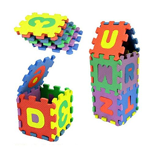 Spielzeug Oyedens 36pcs Baby Nummer Alphabet Puzzle Schaumstoffmatten PäDagogisches Spielzeug -