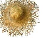 PARTY DISCOUNT ® Hut Tom aus Stroh, naturfarben, ausgefranst