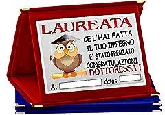 Idea Regalo - TARGA METALLO LAURA LAUREATO LAUREATA PREMIO RICORDO CONGRATULAZIONI