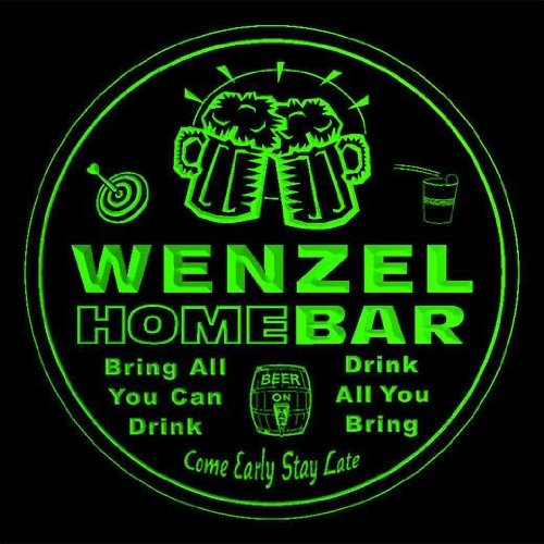 4x-ccq48017-g-wenzel-family-name-home-bar-pub-beer-club-gift-3d-coasters