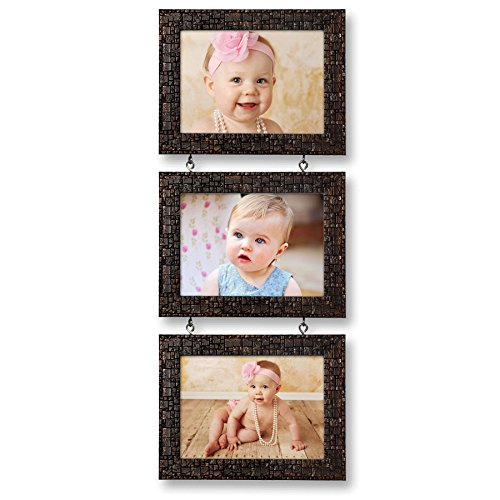 Ajanta Royal Drop-Down 3 - 5 x 7 Photo Frame (Brown Metalic)...