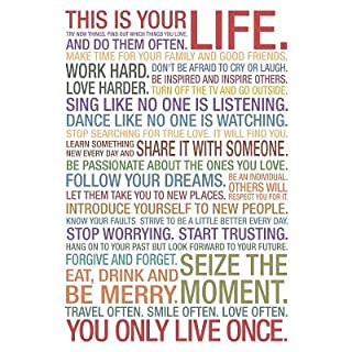 This Is Your Life Motivational Quote Poster - 33x48 cm (B008EMOIVS) | Amazon price tracker / tracking, Amazon price history charts, Amazon price watches, Amazon price drop alerts
