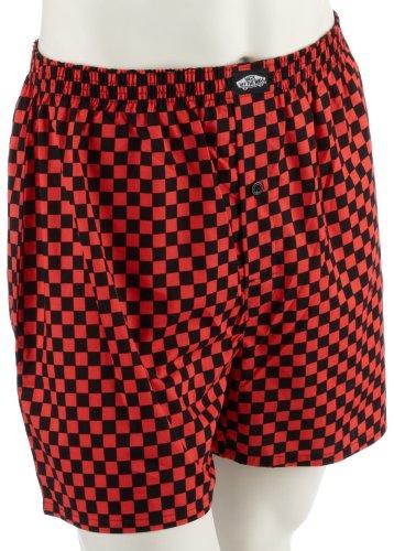 Vans Boxer Shorts Basic Check Boxer, Coral/Black, SMALL
