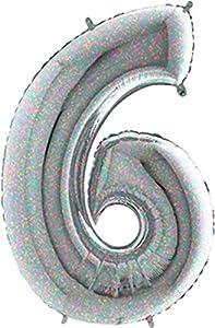 Grabo 196H-P Número 6 Superloon holográfico único paquete, longitud: 40 pulgadas, multicolor, talla única