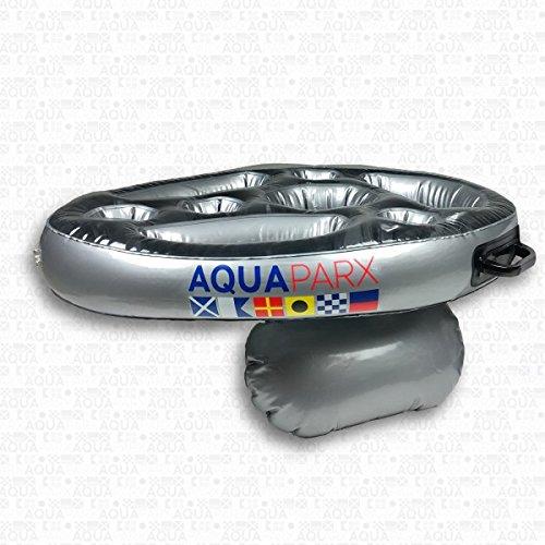 AQUAPARX Whirlpool BAR 62x48x10 cm Getränkehalter schwimmend Pool Tablett Schwimmtablett Minibar Wellness Spa Whirlpoolzubehör aufblasbar Badewanne Wanne;