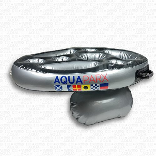 AQUAPARX Whirlpool BAR 62x48x10 cm Getränkehalter schwimmend Pool Tablett Schwimmtablett Minibar Wellness Jacuzzi Spa Whirlpoolzubehör aufblasbar Badewanne Wanne; geeignet für Aqua Spa, Aquaparx, Ospazia, G Spa, Bcool, Mspa, Nordic Spa; Intex etc.